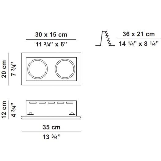 Zaneen Lighting Invisibli Rectangle LED Recessed Trim