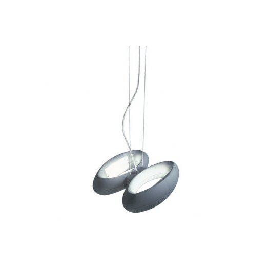Zaneen Lighting Loop Two Light Pendant in Metallic Gray