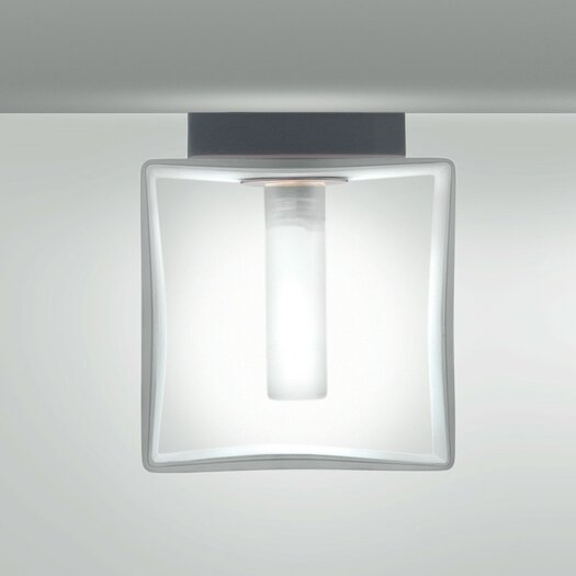 Zaneen Lighting Domino 1 Light Outdoor Flush Mount  /  Wall Sconce