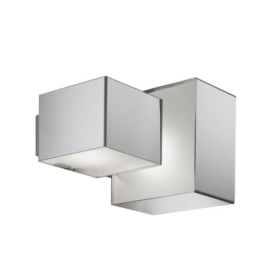 Zaneen Lighting Domino Inox 2 Light Outdoor Flush Mount  /  Wall Sconce