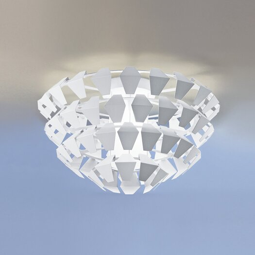 Zaneen Lighting Puskin 3 Light Flush Mount