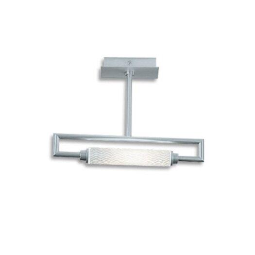 Zaneen Lighting Glim 1 Light Semi Flush Mount