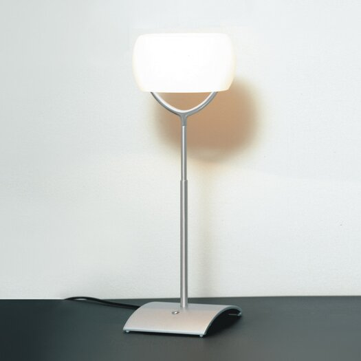 """Zaneen Lighting Muroa Contemporary 23"""" H Table Lamp with Oval Shade"""