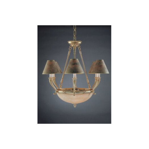 Zaneen Lighting Palma Nine Light Traditional Chandelier in White French Gold
