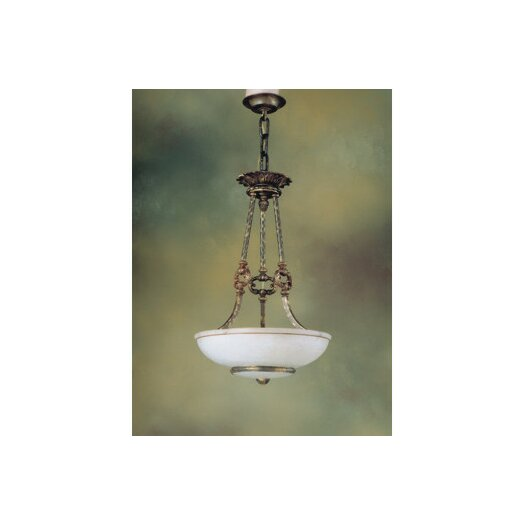 Zaneen Lighting Monticello 3 Light Inverted Pendant