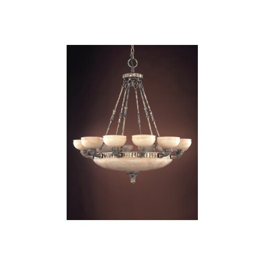 Zaneen Lighting Madrid Eighteen Light Traditional Chandelier in Ancient Silver