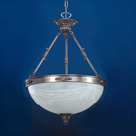Zaneen Lighting Granada 3 Light Inverted Pendant