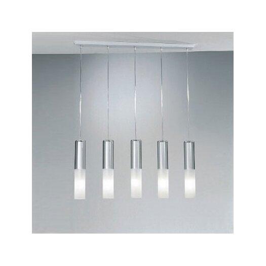 Zaneen Lighting Jazz Five Light Pendant Holder in White