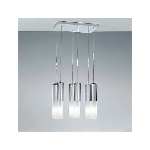 Zaneen Lighting Jazz Six Light Pendant Holder in White