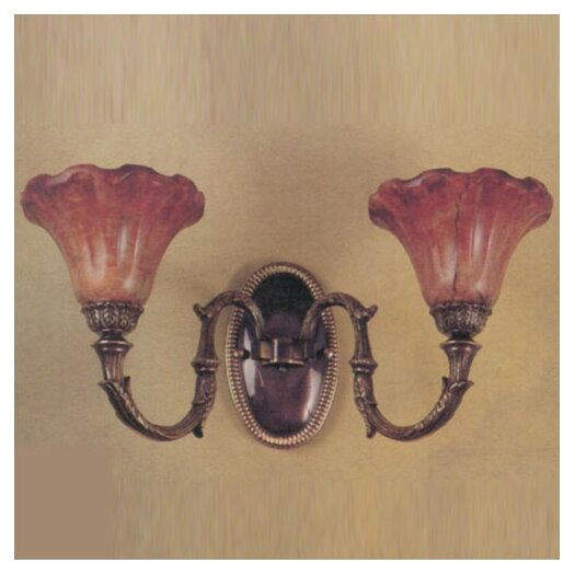 Zaneen Lighting Wall Malaga 2 Light Wall Sconce