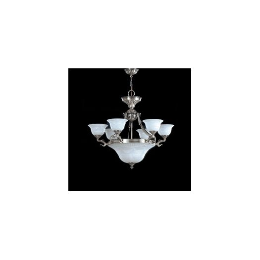 Zaneen Lighting Burgos I Traditional Chandelier in Silver Oxide