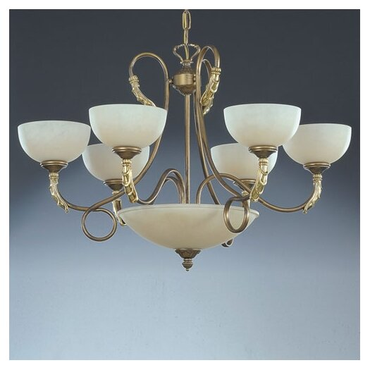 Zaneen Lighting Torre Traditional Chandelier in Painted Bronze