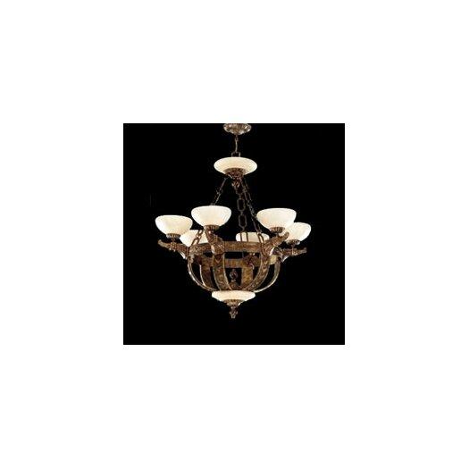 Zaneen Lighting Melilla Six Light Chandelier in Rustic Bronze
