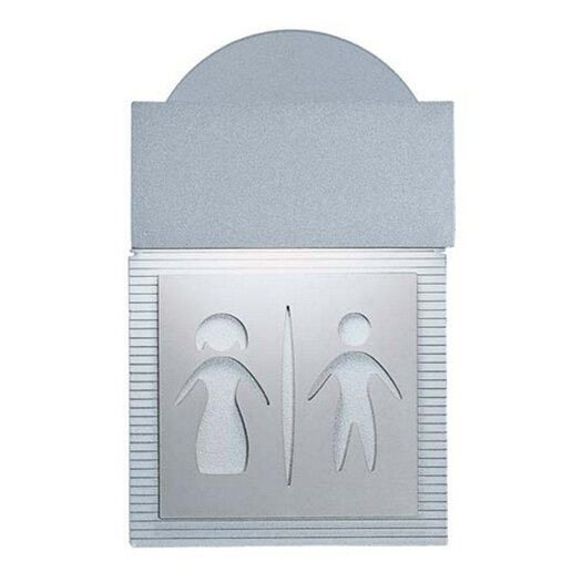 Zaneen Lighting Mini Signal Restroom Wall Light in Metallic Gray