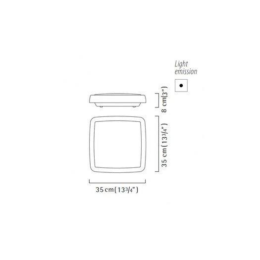 Zaneen Lighting Sq-Easy Flush Mount