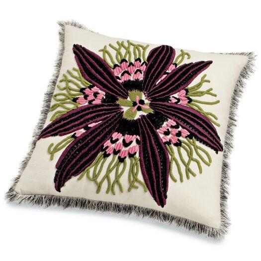 Passiflora T50 Passion Flower Cotton Throw Pillow
