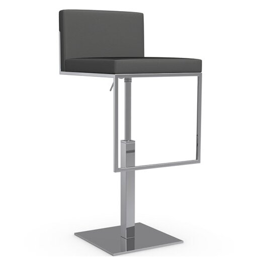 Even Plus Adjustable Height Swivel Bar Stool with Cushion