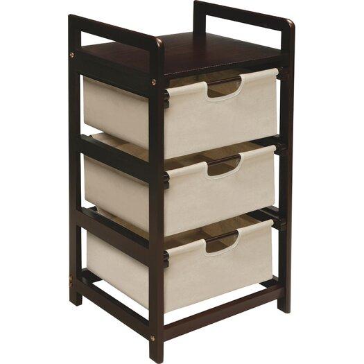 Badger Basket 3 Drawer Hamper & Storage Unit
