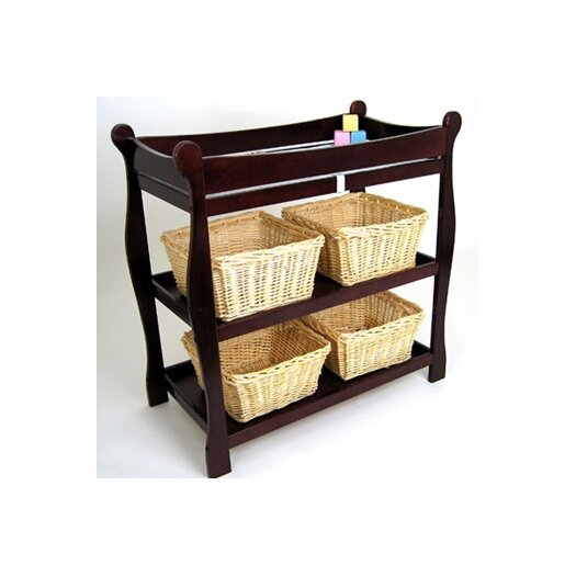 Badger Basket Sleigh Style Baby Changing Table