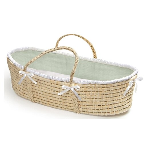 Badger Basket Moses Basket with Waffle Bedding