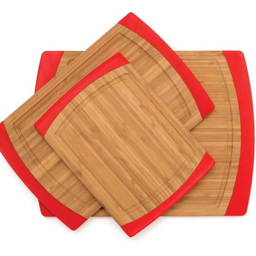 Lipper International Bamboo Non Slip 3 Piece Cutting Board Set
