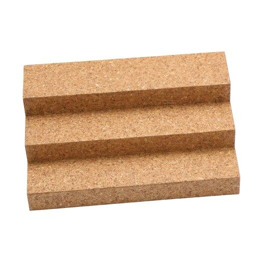 Lipper International Cork Expandable Triple Step Spice Rack