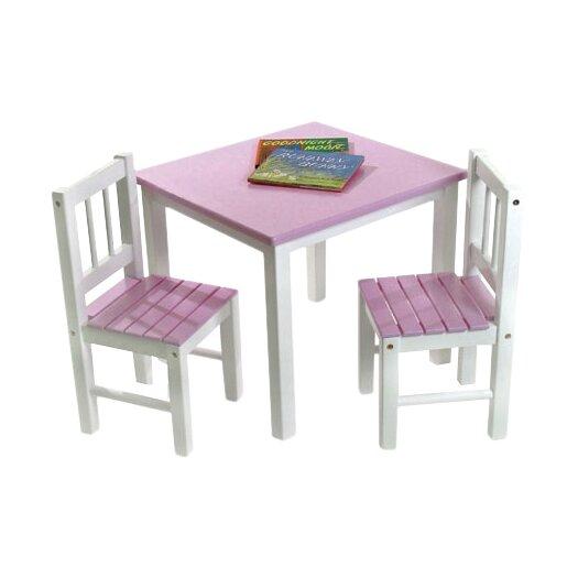 Lipper International Kids 3 Piece Table & Chair Set