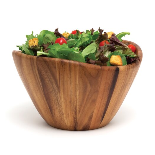 Lipper International Acacia Serveware Salad Bowl