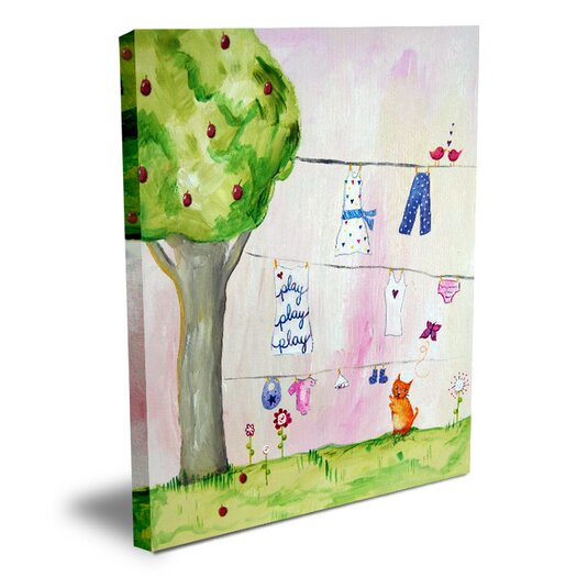 Cici Art Factory Words of Wisdom Play Play Play Canvas Art