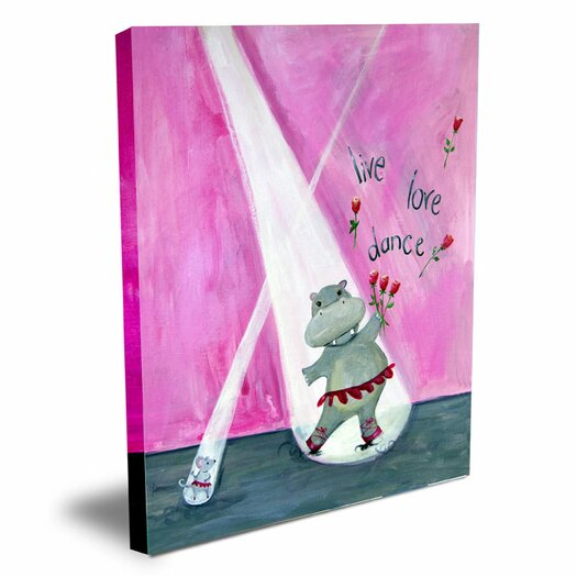Cici Art Factory Words of Wisdom Live Love Dance Canvas Art