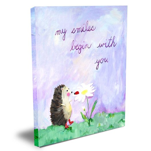 Cici Art Factory Words of Wisdom My Smiles Begin with You Canvas Art