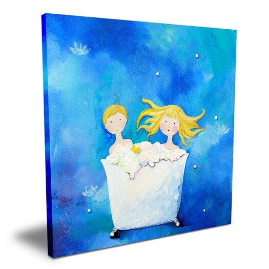 Cici Art Factory Wit & Whimsy Two in A Tub Canvas Art
