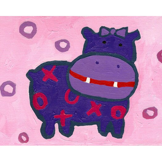 Cici Art Factory X and O Hippo Paper Print