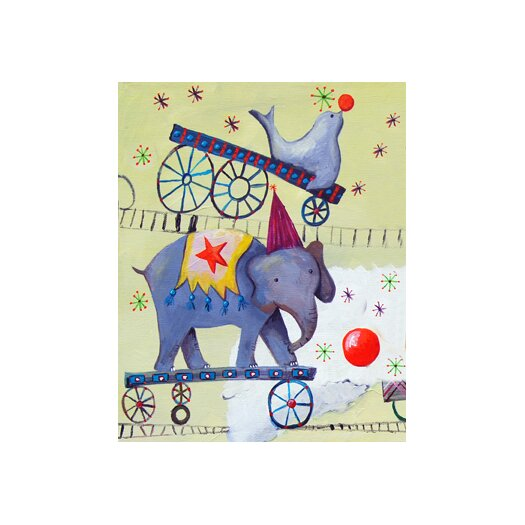 Cici Art Factory Circus Train Elephant Paper Print