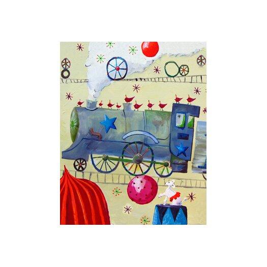 Cici Art Factory Circus Train Poodle Paper Print