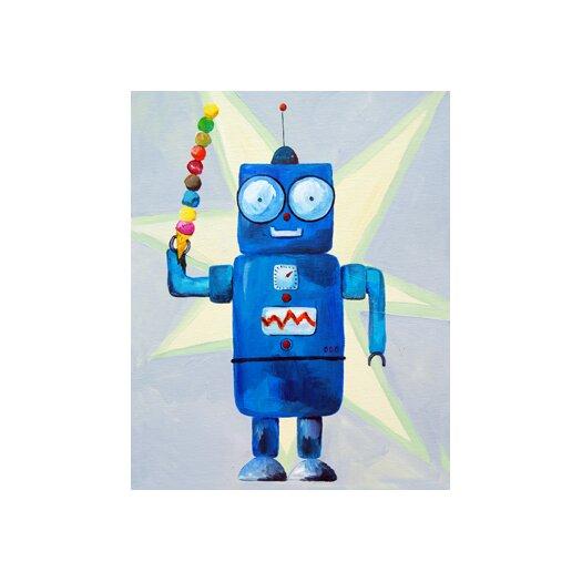 Cici Art Factory Dimdat Loves Ice Cream Robot Canvas Art