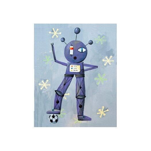 Cici Art Factory Newton Loves Soccer Robot Canvas Print