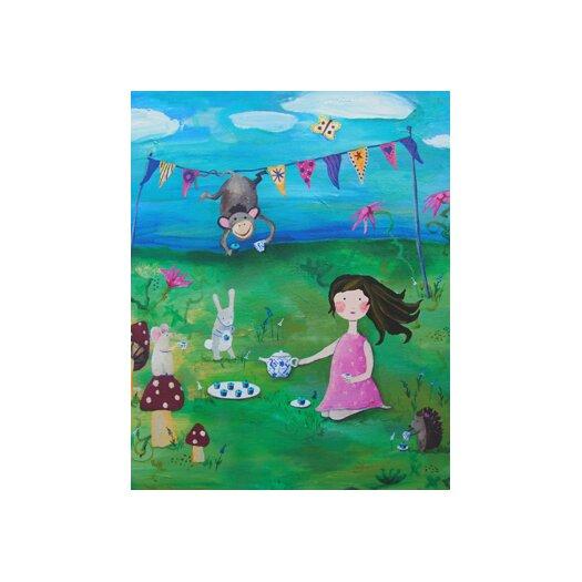 Cici Art Factory Wit & Whimsy Tea Party Brunette Canvas Art