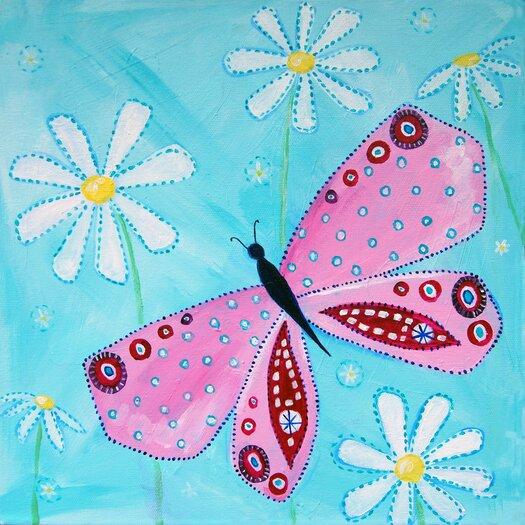 Patchwork Butterfly Garden Paper Print