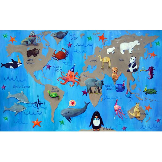 Cici Art Factory Wit & Whimsy My World Giclee Canvas Art