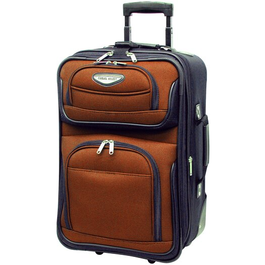 "Traveler's Choice Amsterdam 21"" Expandable Rolling Carry On II"