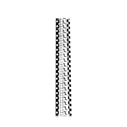 Box of 144 Black and White Checkered Paper Straws (Set of 2)