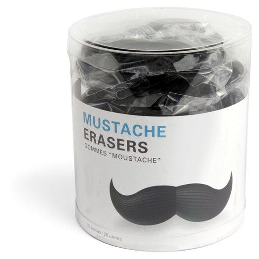Kikkerland Mustache Erasers