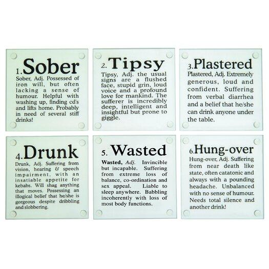 "Kikkerland ""Drunk?"" Glass Coaster"