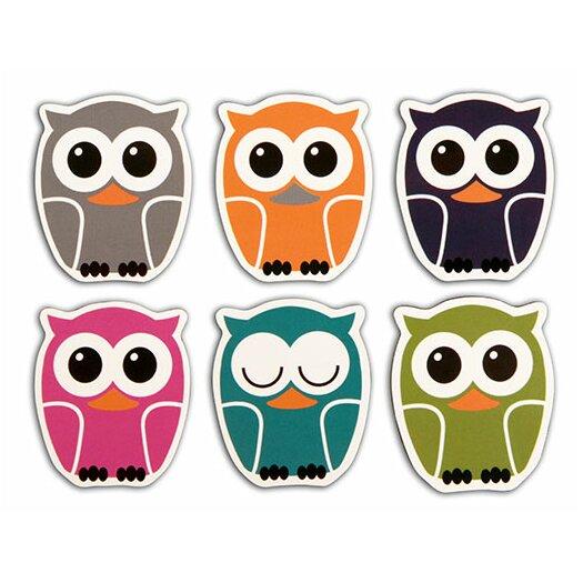 Kikkerland Owl Rubber Magnets