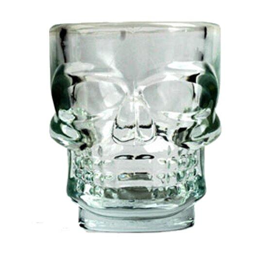 Kikkerland 1.5 Oz. Skull Shot Glass