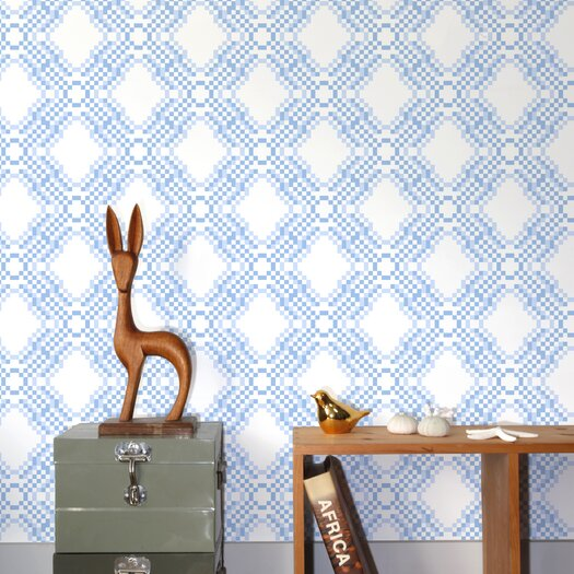 Aimee Wilder Wallpaper: Aimee Wilder Designs Ikat Pixel Wallpaper Sample