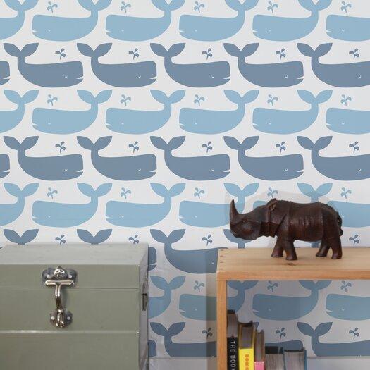 Aimee Wilder Wallpaper: Aimee Wilder Designs Journey 1' X 8'' Whales Wallpaper
