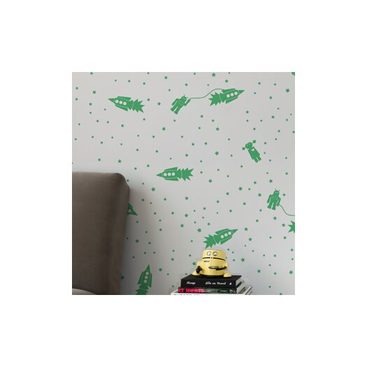 Aimee Wilder Wallpaper: Aimee Wilder Designs Astrobots 1' X 8'' Wallpaper