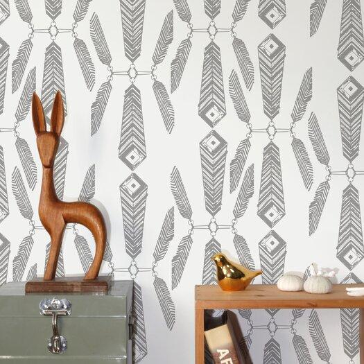 "Aimee Wilder Designs Diorama Indian Summer 15' x 28"" Floral Wallpaper"